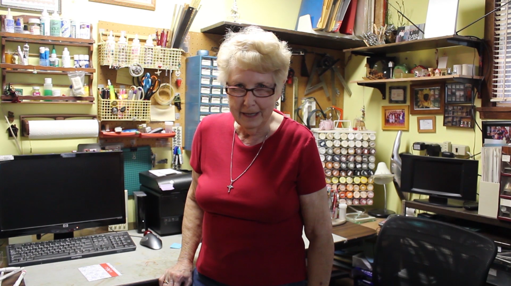 Joanne Martin in a craft room