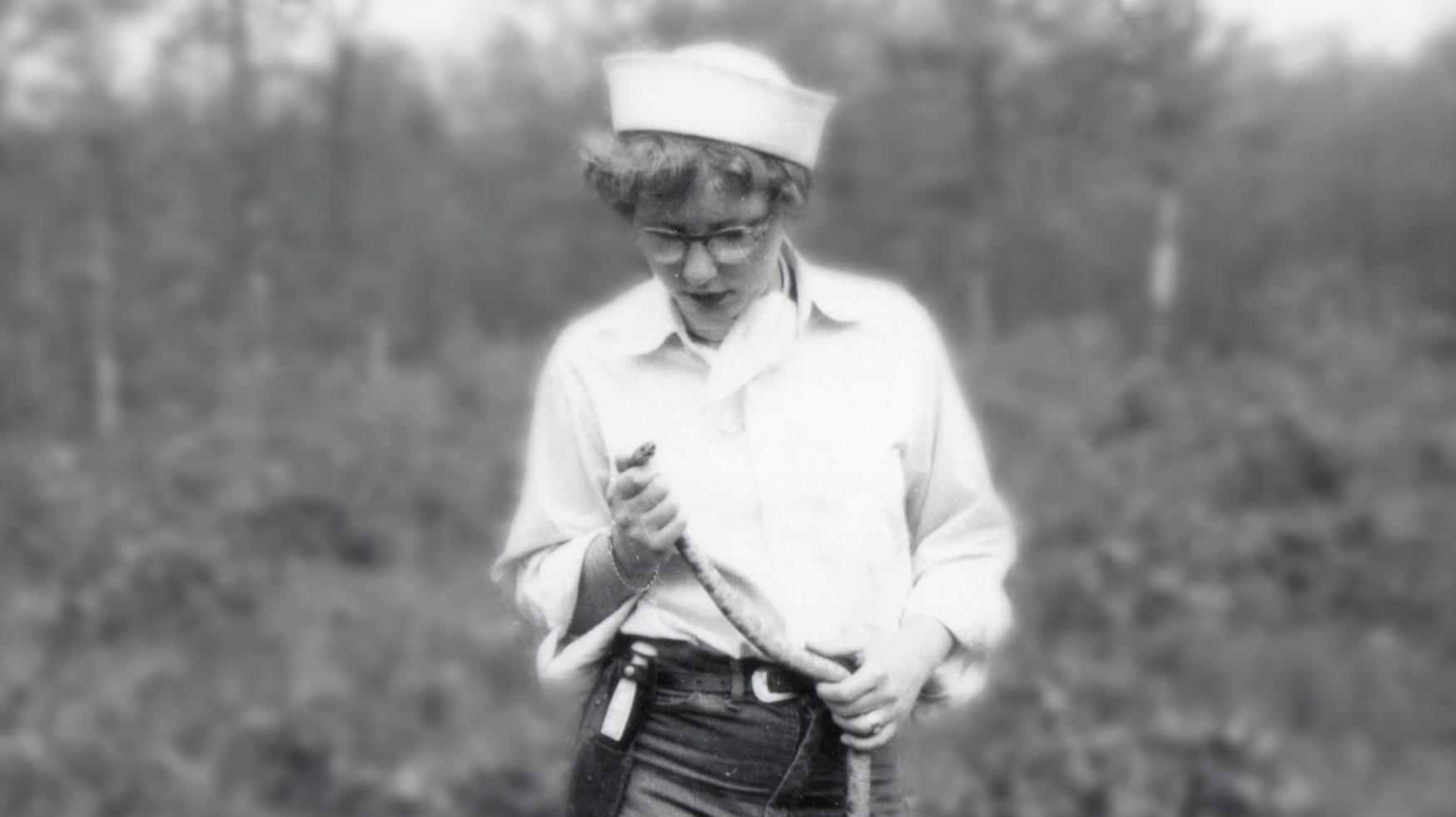Joanne Martin holding a snake