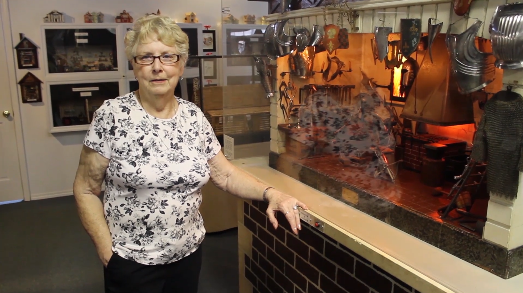 Joanne Martin with Armory miniature