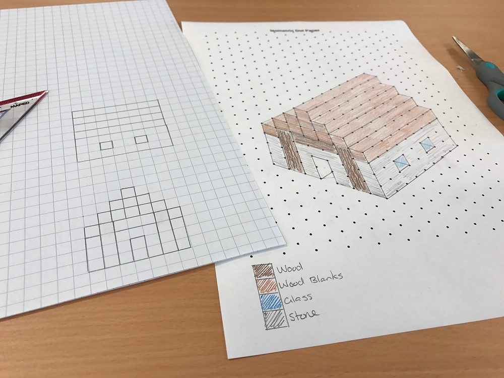 Isometric drawing were more challenging for some students than they anticipated.