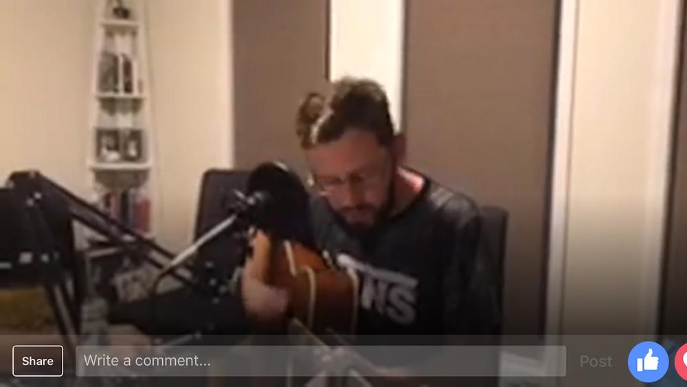 Simon performs live in studio
