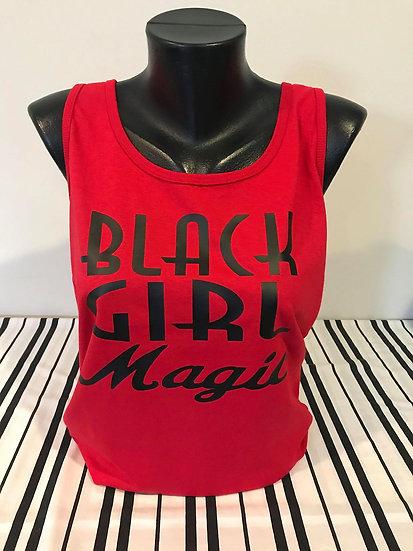 Black Girl Magic Red Tank Top