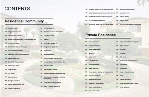 New Residential Landscape contenidos