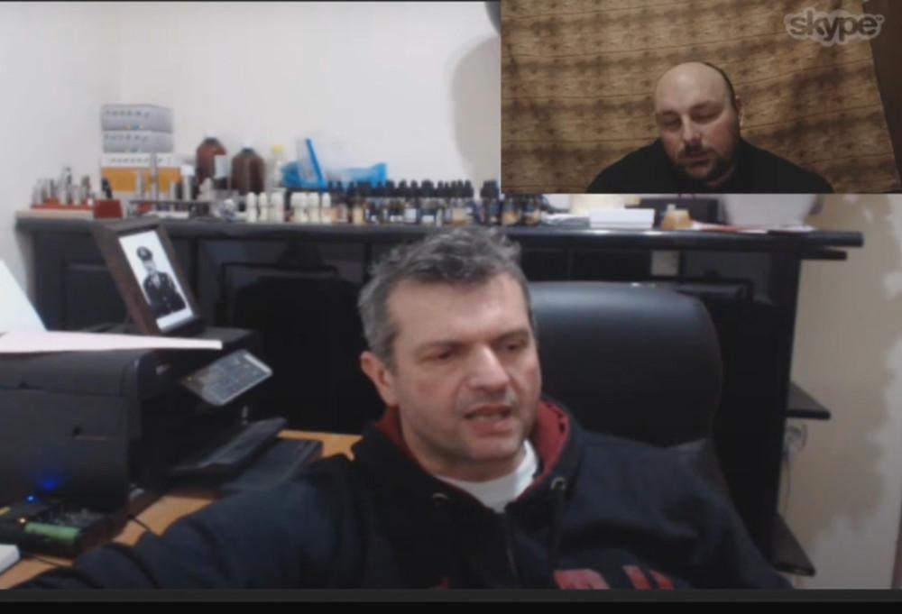 Ο reviewer Νίκος Μπαμπασίδης με τον Imeo