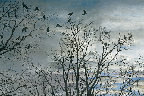 Murder of Crows at Dawn