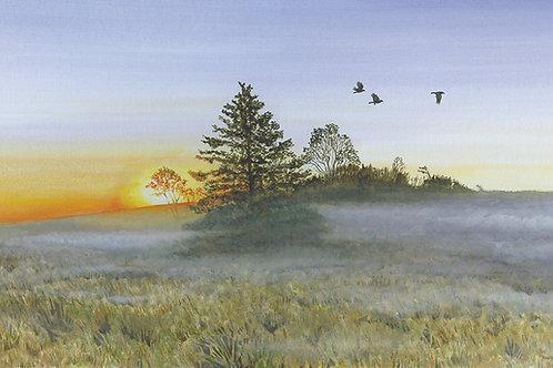 Three Crows at Dawn