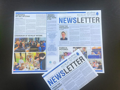 Newsletters Large A2 size