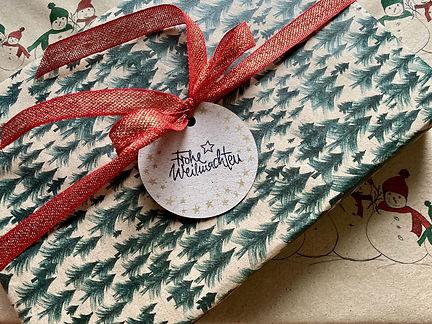 Geschenkanhänger naturpapier