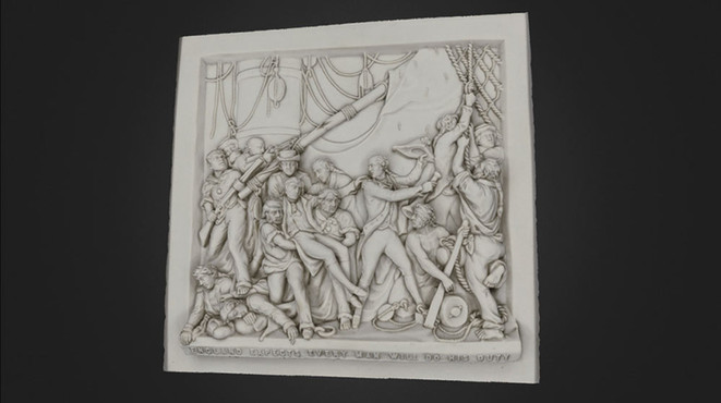 Trafalgar battle 3D scan