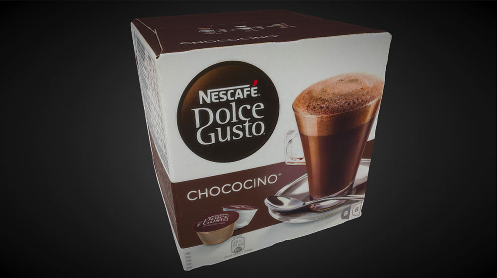 Nescafe box 3D scanning