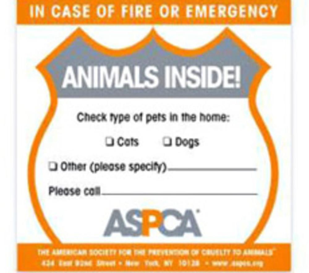 In case of emergency home window sticker