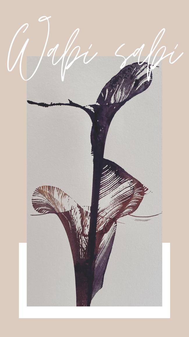 """""""Wabi Sabi"""" ink on paper n.1"""