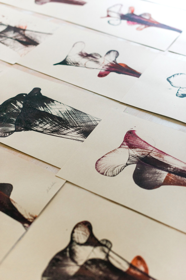 """""""Wabi Sabi"""" ink on paper series"""