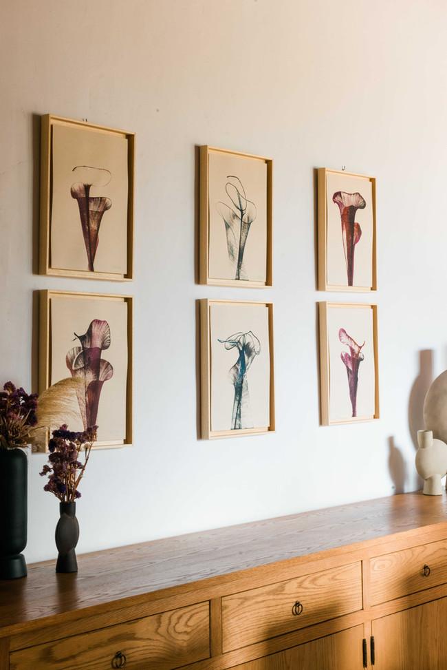 """Wabi Sabi"" art instalation framed."