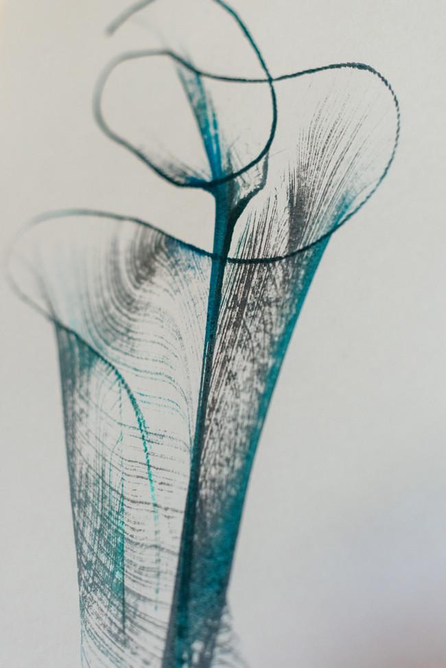 Wabi Sabi, art series. Ink on paper.
