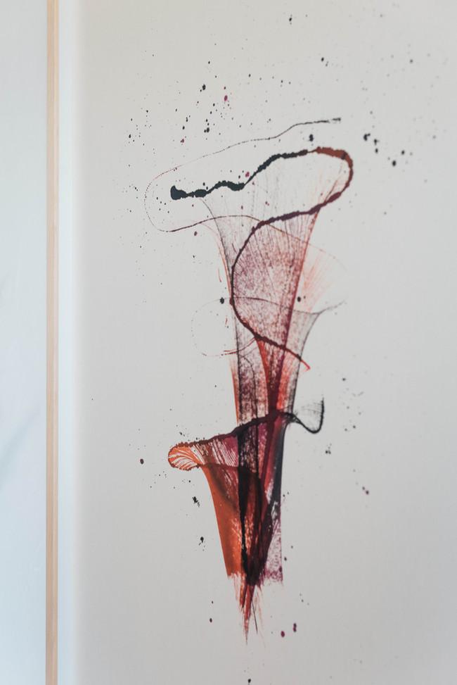 Wabi Sabi ink painting close up
