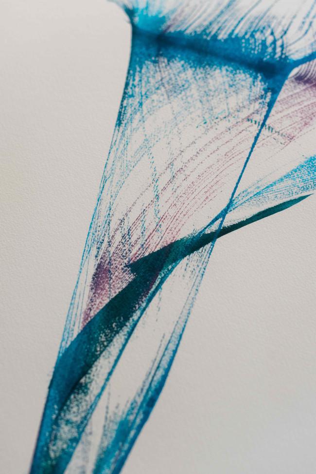 "Ink on paper ""blue Cala"""