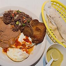 Huevos Rancheros + 2 Meats & Beans