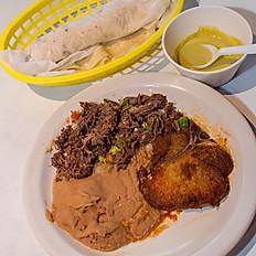 1 Meat + Pork Chop & Beans