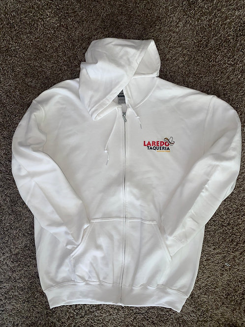 Laredo Taqueria Front Zip Hoodie(Front Logo Only, Sizes XXL-5XL)