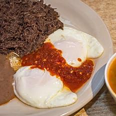 Huevos Rancheros + 1 Meat & Beans