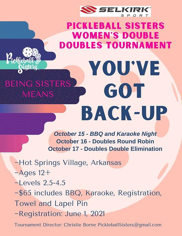 2021 Pickleball Sisters Tournament 8.5 x