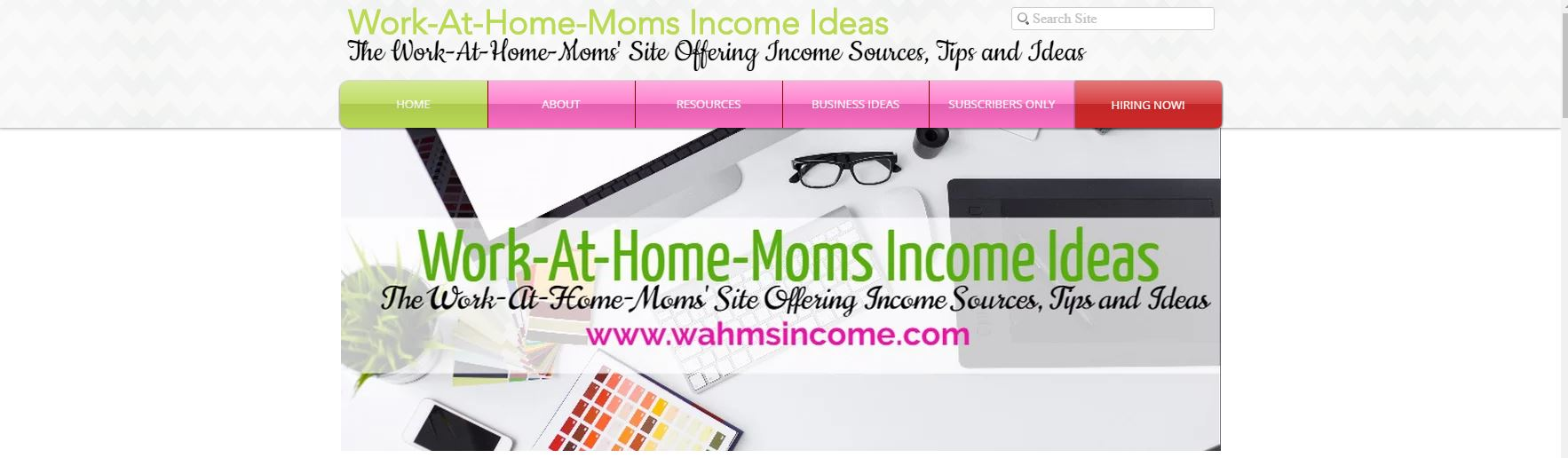 Work At Home Moms Income | wahmsincome.com