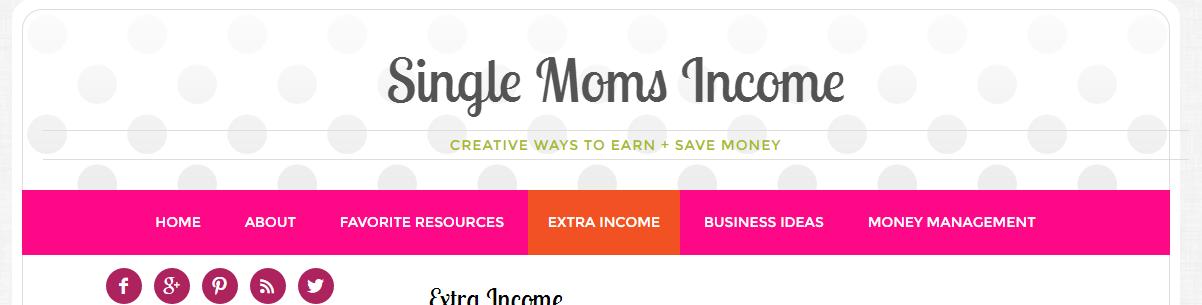 singlemomsincome com work at home moms income