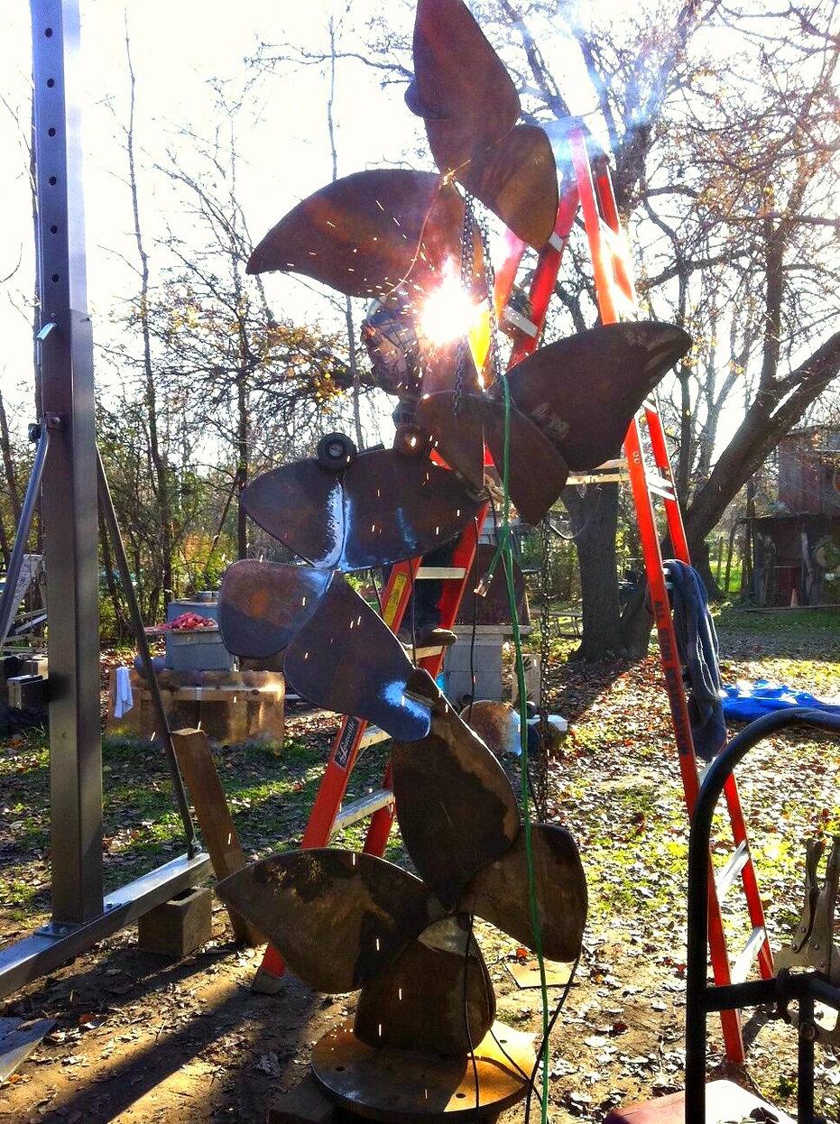 Metal art, Laura Walters sculpture, butterflies