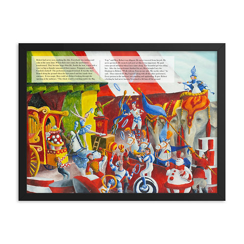 Robert Joins the Circus – 24x18 Framed print