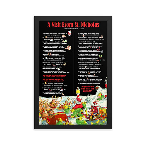 Interactive Night Before Christmas – 12x18 Framed print