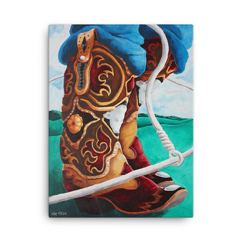 The Roper's Boot – 18x24 Canvas
