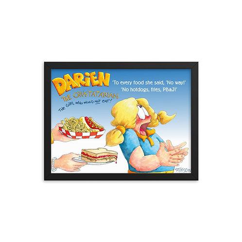 Darien Won't Eat Hotdogs! – 16x12 Framed poster
