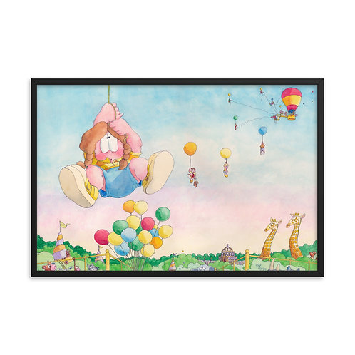 Hang in There! – 36x24 Framed print