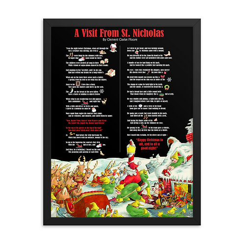 Interactive Night Before Christmas – 18x24 Framed print