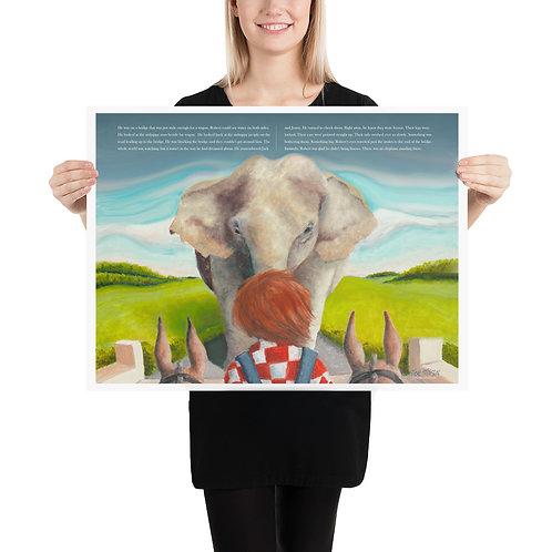 Robert Meets the Elephant – 24x18 Print