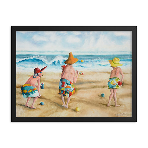Mitch, Pitch, and Itch – 24x18 Framed print