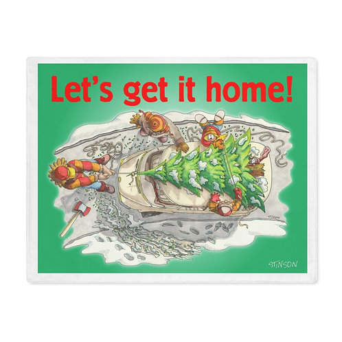 Taking the Christmas Tree home - Placemat