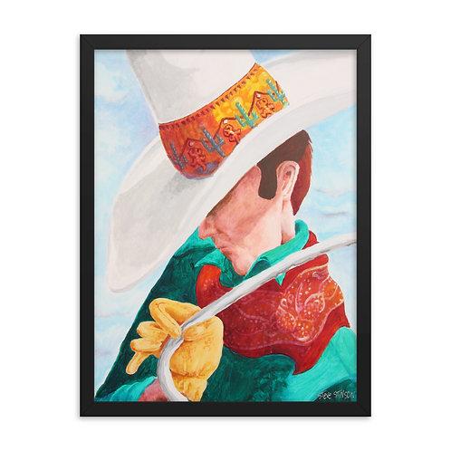 The Roper's Hat – 18x24 Framed print