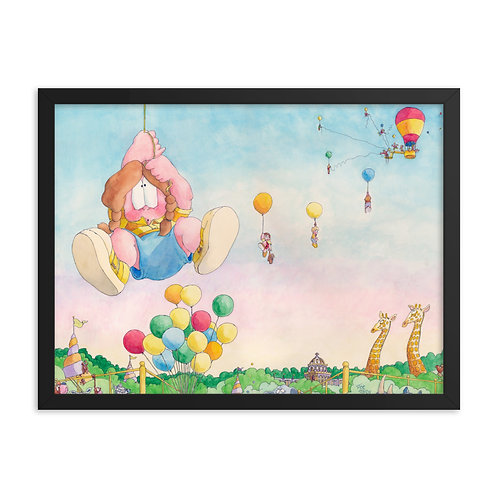 Hang in There! – 24x18 Framed print