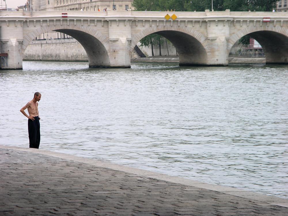 Paris, France - Strung out beside the Seine