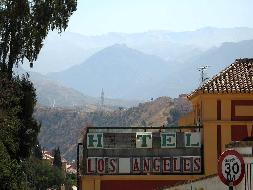 Granada, Spain - Mountains behind the Hotel Los Angeles. Hot and dry!