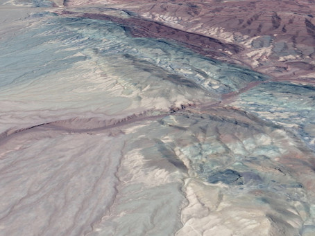 Dissolving Rainbow Rock Formations