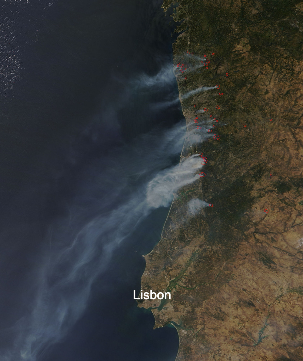 Wildfires in Portugal August 10, 2016