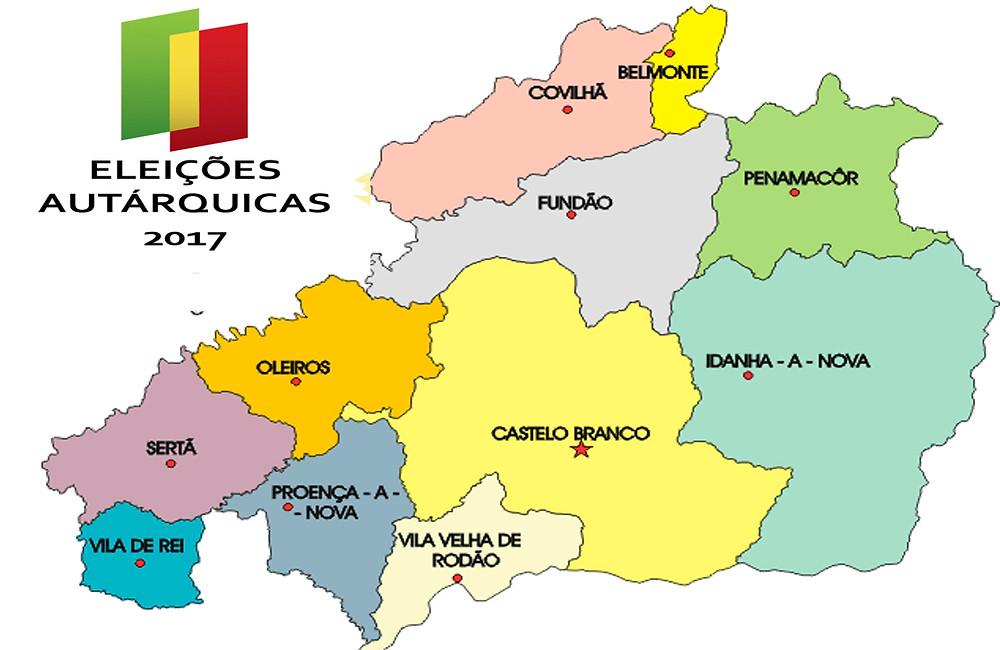 The municipalities of Castelo Branco