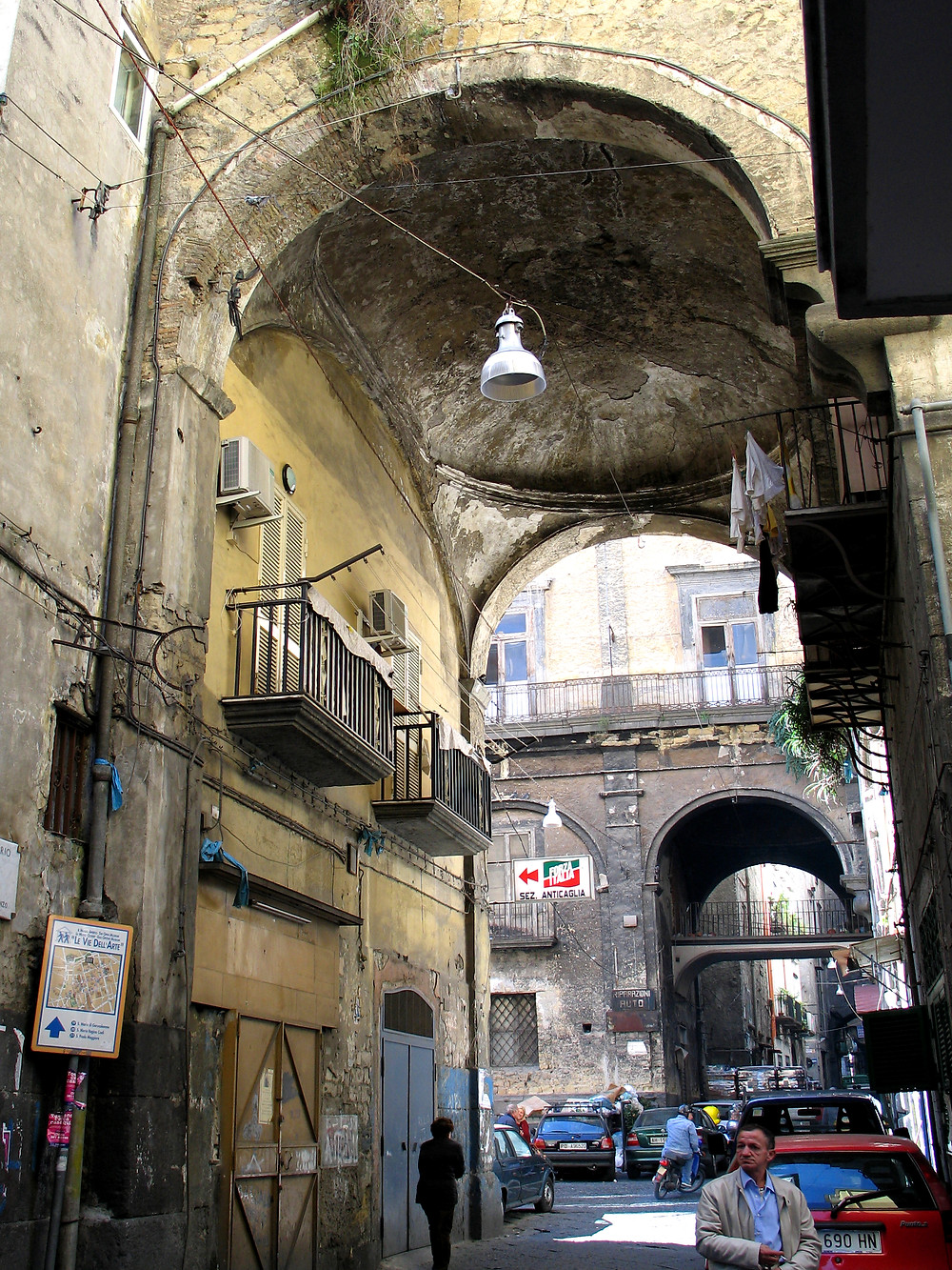 Typical side street near the oldest parts of the city of Naples.