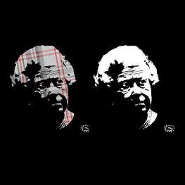 Queen Elizabeth II - Balmoral Tartan - stencil - screen print style