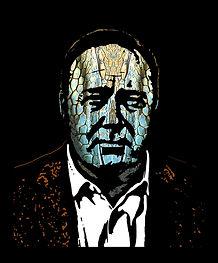Alex Jones - New Lizard King - stencil, screen print style