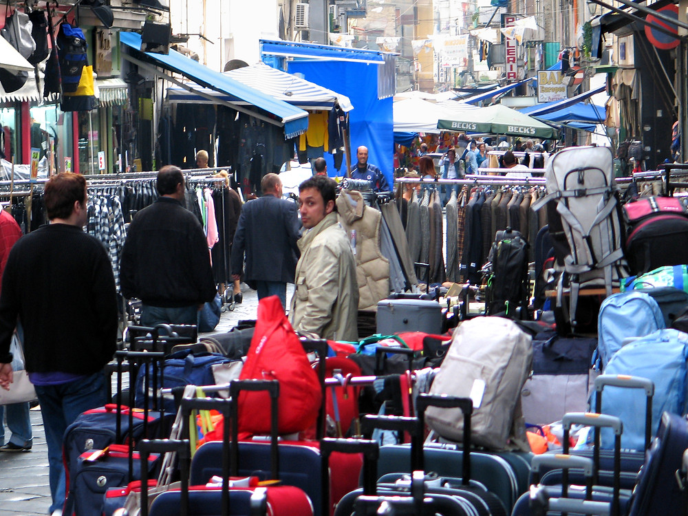A market day in Naples. Sublime chaos.