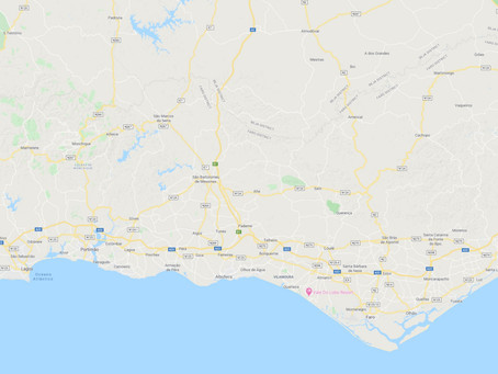 Good Blank Map of the Algarve